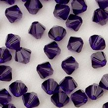 4mm Swarovski 5328 Xilion Purple Velvet - 10